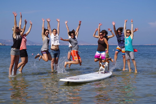 September - surf Girlscamp Naxos 1. Woche