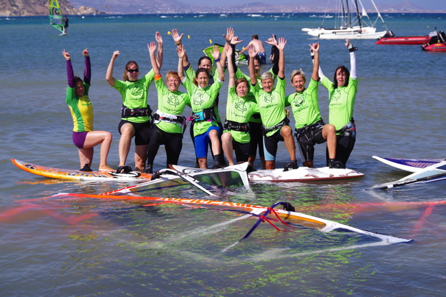 September - surf Girlscamp Naxos 2. Woche